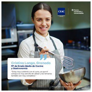 Opiniones CEAC FP de Grado Medio de Cocina y Gastronomía