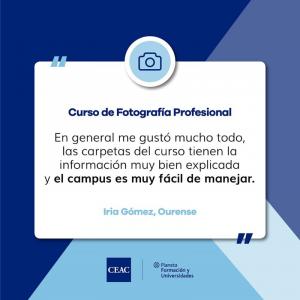 Curso Técnico en Fotografía Profesional