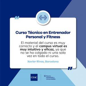 Curso Técnico en Entrenador Personal y Fitness